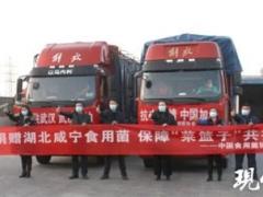 江苏香如生物向湖北武汉捐赠运送10吨杏鲍菇