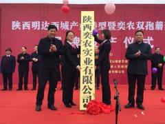 陕西首家工厂化种植双孢蘑菇生产线在勉县建成投产 ()